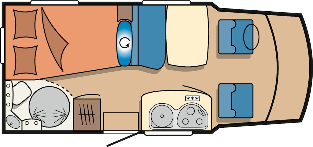 Plan amenagement camping car site de voiture for Interieur de camping car